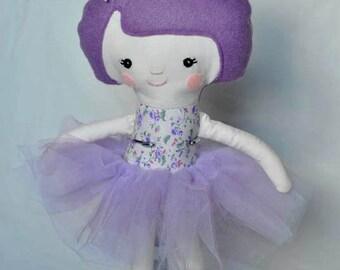 Purple Ballerina Soft Doll
