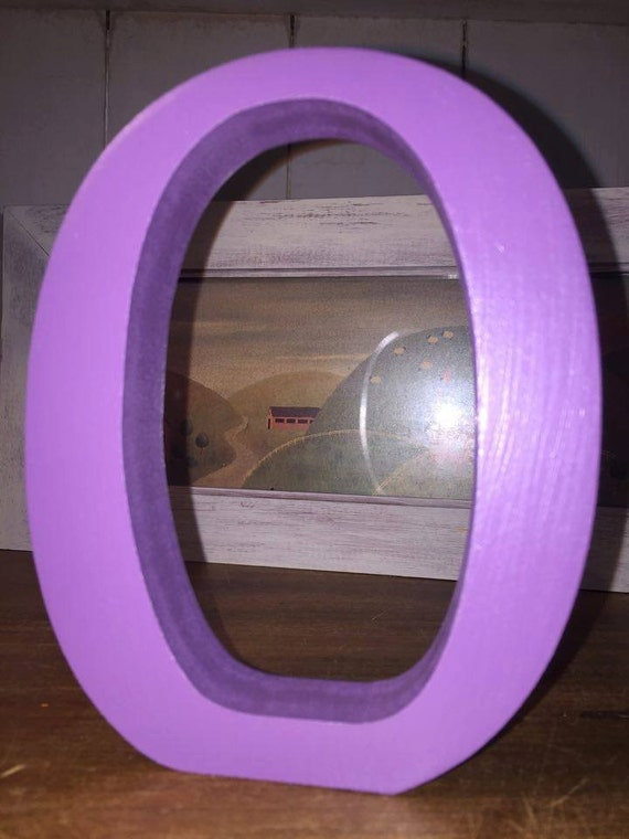 Purple wooden letters and numbers free standing by for Standing wood letters to paint