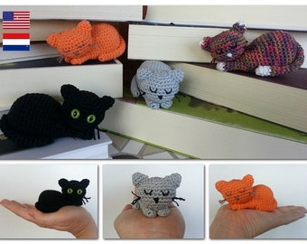Cute mini cat, amigurumi crochet pattern, PDF ENG