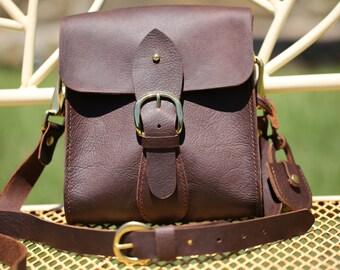 Leather messenger bag, Kodiak leather crossbody bag, 100% Handmade Leather shoulder bag