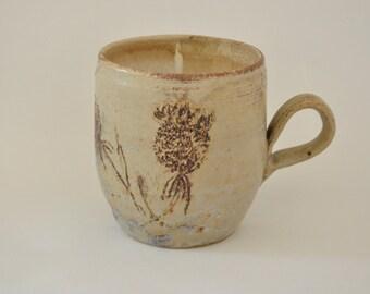 Sgraffito Caffe/Tea Mug