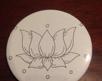 Lotus Flower Pinback Button