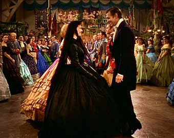 Scarlett O'Hara Gone with the Wind mourning dress