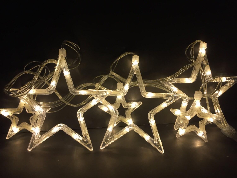 Led hollow star string lights bedroom holiday festival