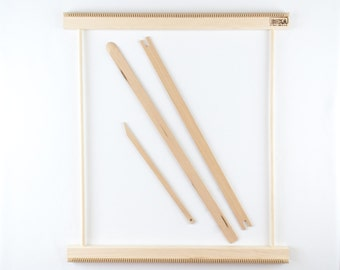 """Weaving Frame Loom 20"""" - Make your own woven wall hanging!"""