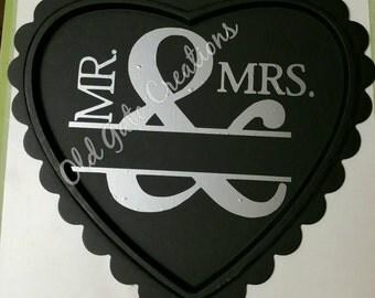 Personalized Mr & Mrs wall hanging chalkboard