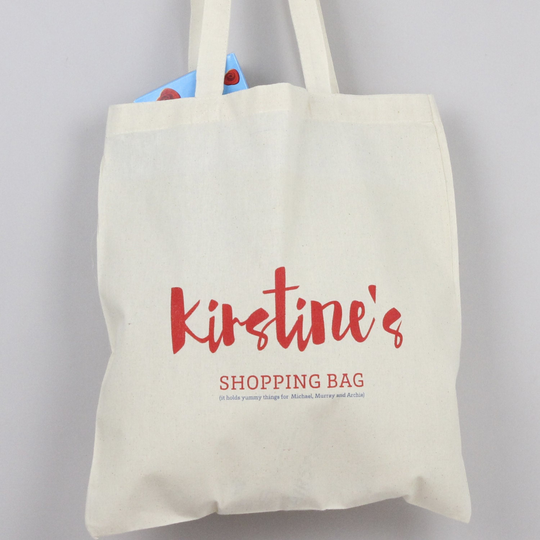 shopping bag personalised grocery bag kids bag book bag