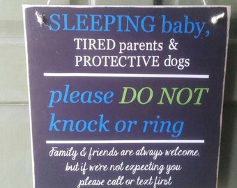 Door sign - baby sleeping do not knock