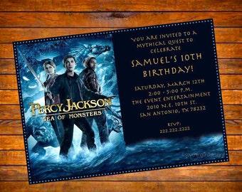 Custom DIGITAL Percy Jackson Movie Invitation