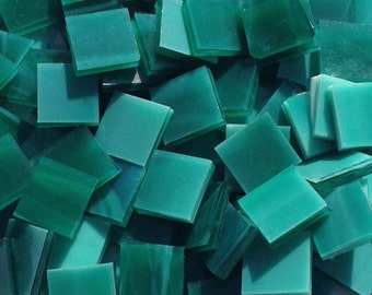 Teal Opal Stained Glass Mosaic Tiles