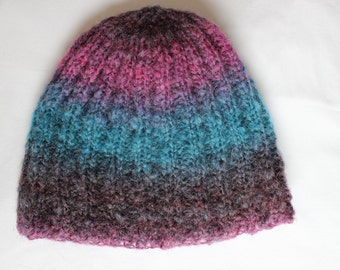 Hand Knitted Slouchy Beanie Hat Bonnet
