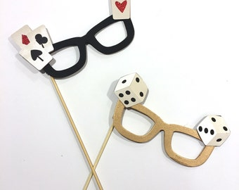 Casino Party Props/ Casino Glasses/ Casino Photobooth/ Birthday party/ Casino Party Decoration/ Poker/ Las Vegas Party Props