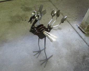 Low Country Metal And Wood/Scrap Metal Bird/ Yard Art/ Scrap Metal Art