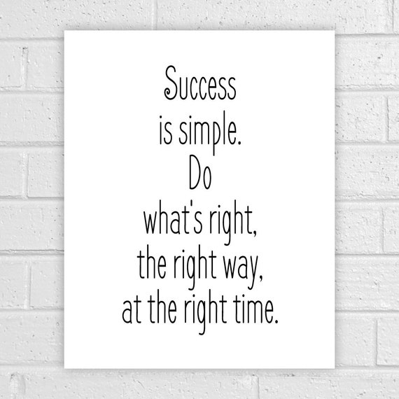 Printable Quotes Success Is Simple Office By AlbatrossCreation