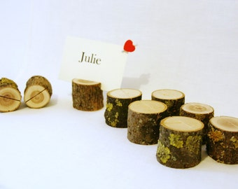 10 rustic wedding place card holders table number holders, wood place card holders, wedding card holders, wooden card holders