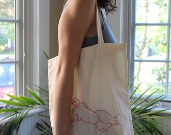 Resting Lady Tote