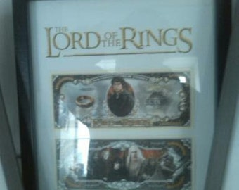 Lord of the rings framed dollars
