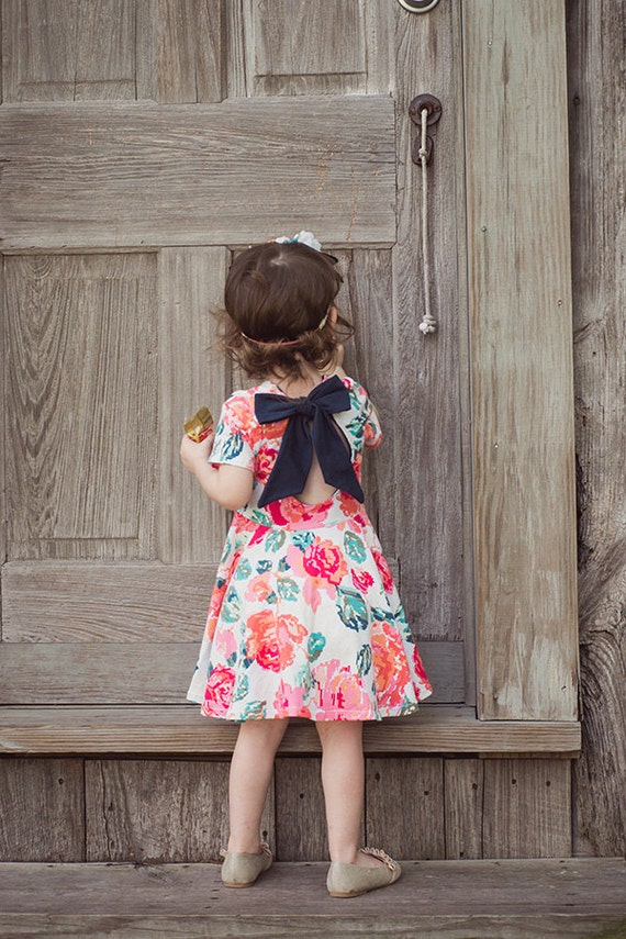 Baby Adelyn's Scoop Back Top and Dress. PDF sewing pattern for Baby sizes NB to 18-24 months.