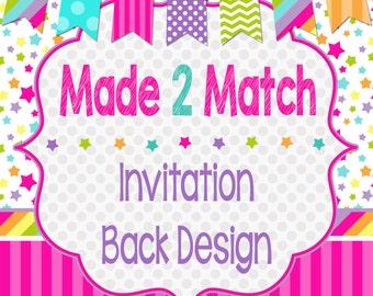 Invitation Back Design, Back File
