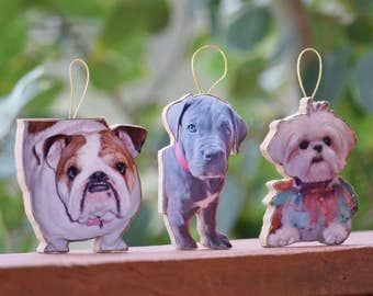Dog Christmas Ornament Personalized Pet Figurines & Keepsakes, This is your Dog's Photo Ornament, Holiday Ornaments, Dog Christmas Ornament,