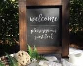 chalkboard easel, chalkboard sign, chalkboard A-frame, tabletop sign
