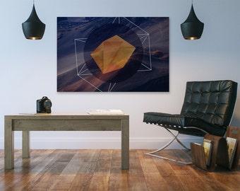 Canvas Print - BLOCK MOUNTAINS - (40001)