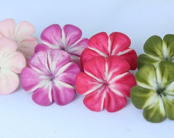 flower earrings, lovely earrings, colorful earrings, earrings clay, lovely clay