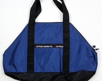 Ralph Lauren Polo Jeans Co. Authentic Dry goods Bag Navy/Black - Rare Polo