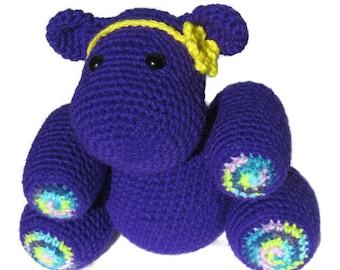 Helen the Hippo, amigurumi hippo, crochet hippo, crochet hippopotamus, hippo stuffed animal, crochet hippo toy, hippo plush, nursery decor