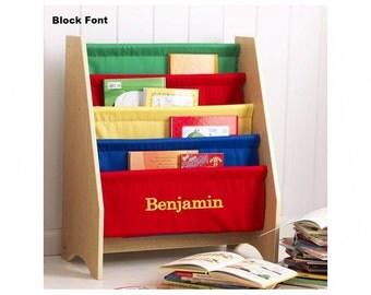 Personalized Primary Sling Bookshelf