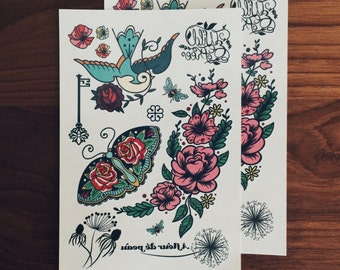 Temporary Tattoos - Wild and Free