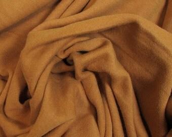 Organic KNIT Cotton Interlock Fabric: Burnt Umber; Dark Orange; Made in USA