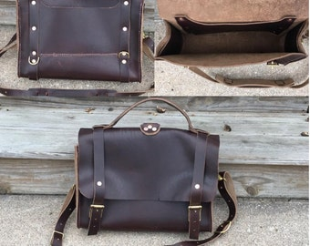 Horween satchel 8-10 oz.