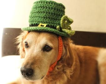 Leprechaun Hat for Dogs, St Patricks Day Dog Hat, Bearded Leprechaun Dog Costume, St Patricks Day Dog Costume, Bearded Dog Hat