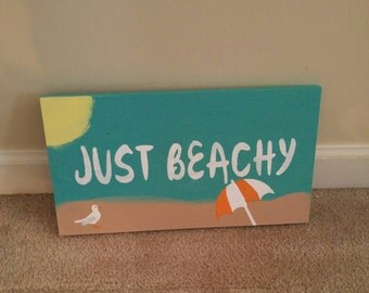 Beach sign - beach decor -summer beach decor - beach scene - wooden beach sign-  beach wall art