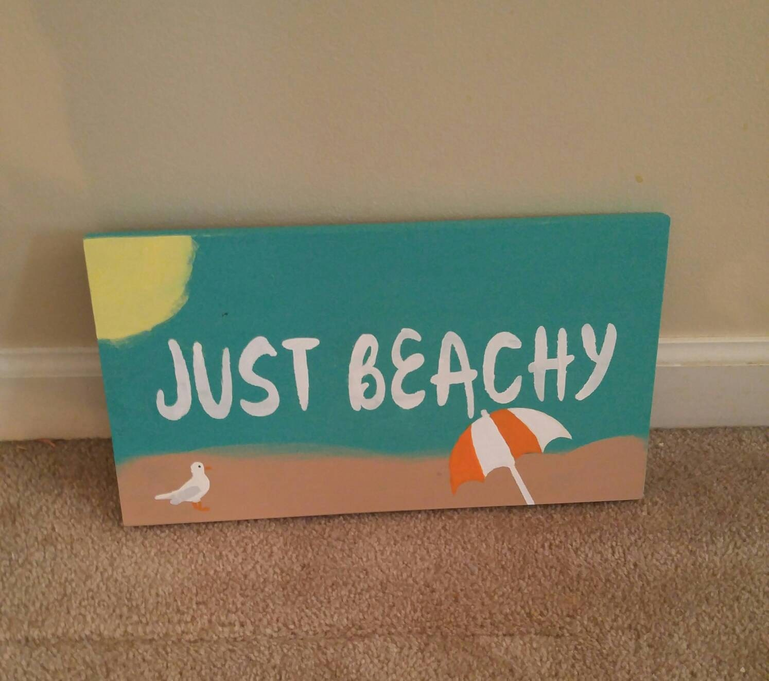 Beach sign beach decor summer beach decor beach scene for Summer beach decor