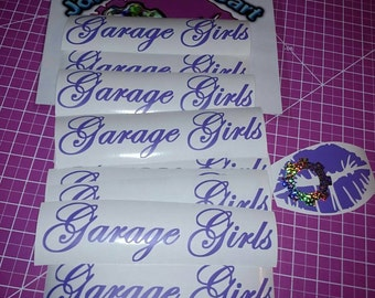 Garage Girls Jewelry Decal Automotive Sticker Car Girls Racing Drifting Car Enthusiast Mechanic