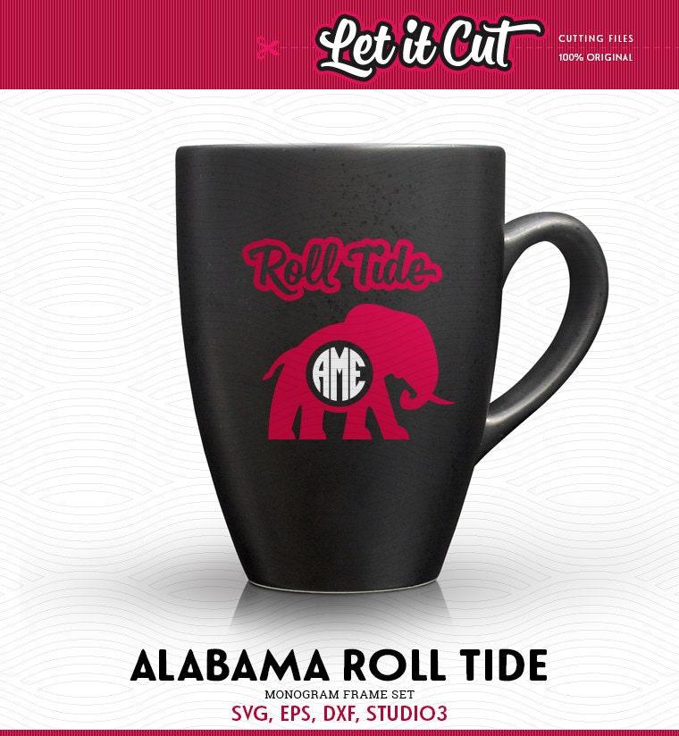 Crimson Circle Studio Creative Spaces: Alabama Roll Tide Monogram Frames (SVG, EPS, DXF, Studio3