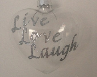 Custom hand-decorated bauble for any occasion!