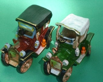 SALE - Vintage Antique Car Figurines - Andrea Sadek