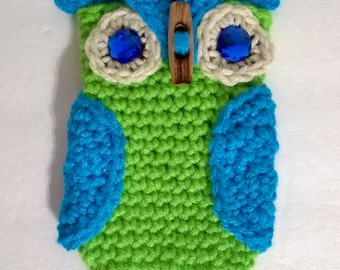 Crochet Owl Cell Phone Cozy/Made to Order/Customizable