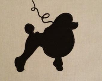 Poodle Cameo Applique Digital Embroidery Design