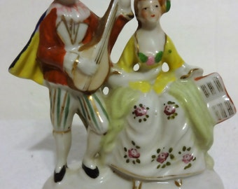 Occupied Japan Man and Woman Figurine Great Shape 1940's