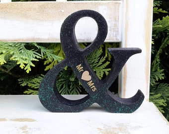 unique wedding gift, personalised wedding gift, ampersand, golden wedding, golden wedding anniversary, ampersand, wedding anniversary,