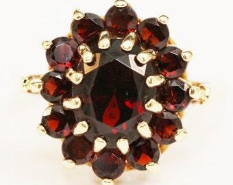 Garnet - January Birthstone Ring 14K Yellow Gold Size 6.75