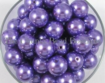 20mm purple resin pearls