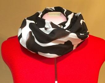 Zebra print infinity scarf