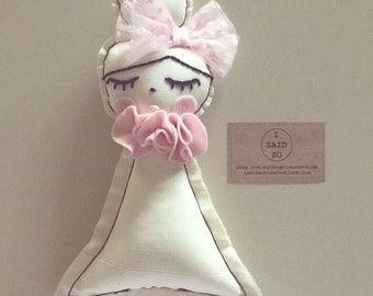 Handmade little doll rattle XO