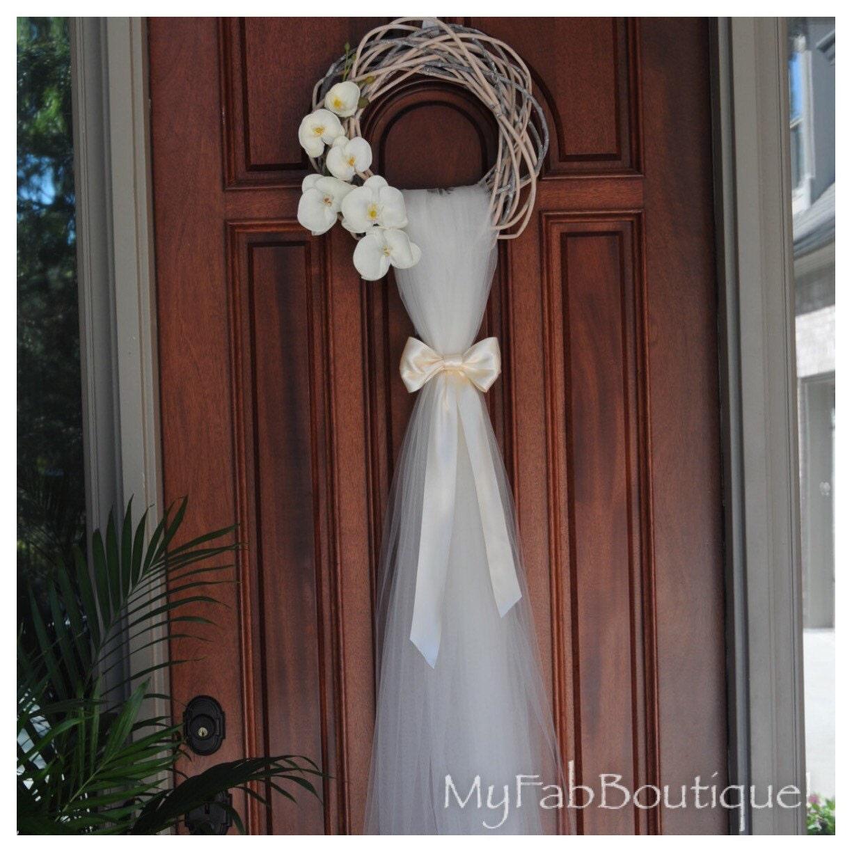 Rustic Door Wedding Ideas: WEDDING Wreath Bridal DecorationDoor Decoration Wreath Door