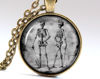 Skeleton Necklace Bones Pendant Undead Jewelry Pendants Necklaces Jewellery LG365